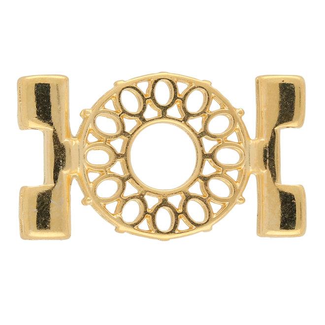 Detis-Tila Bead Connector - 24K Gold Plate