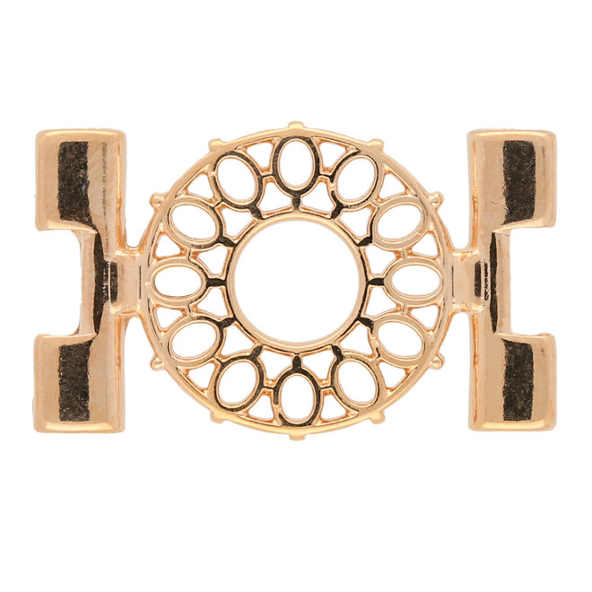 Detis-Tila Bead Connector - Rose Gold Plate