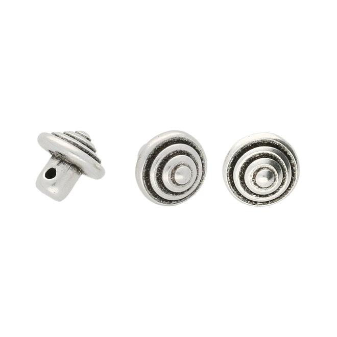 Cymbal™ Katapola-Minos Bead Substitute - Silver Plate
