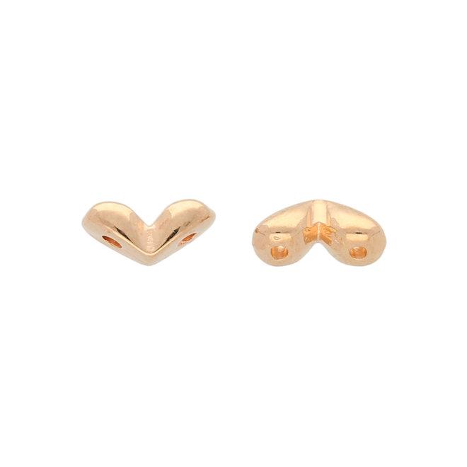 Mitakas-GemDuo Side Bead – Rose Gold Plate