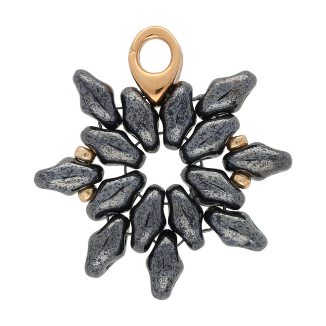Kolympos-Superduo Bead Ending - Rose Gold Plate