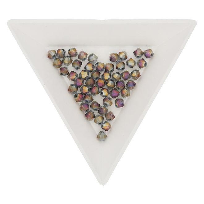 Doppelkegel 4 mm – aus Glas - Purple AB
