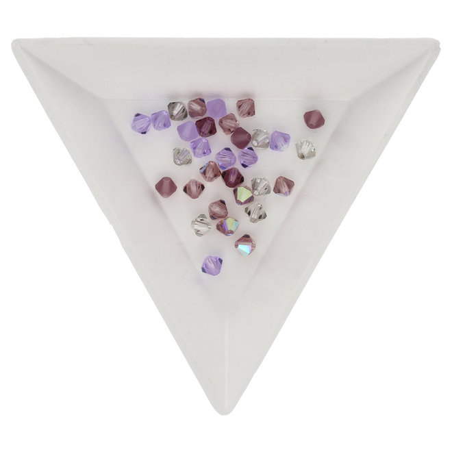 M.C. Doppelkegel 4 mm - Lilacs Mix