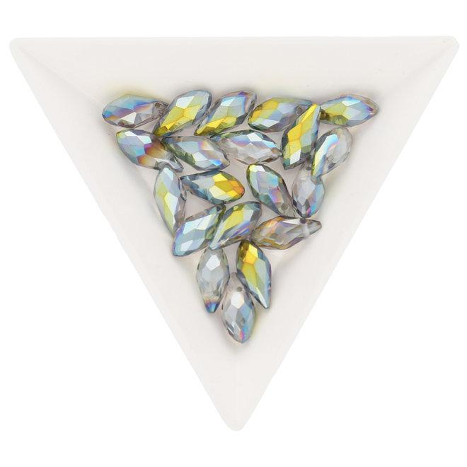 Briolette Glasperlen mit seitlichem Loch - Multicolor