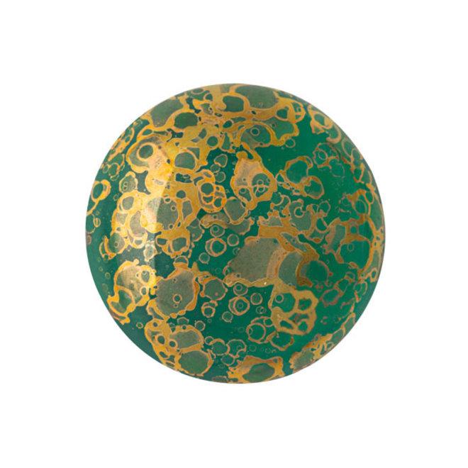 Cabochon par Puca - 18 mm - Emerald Bronze