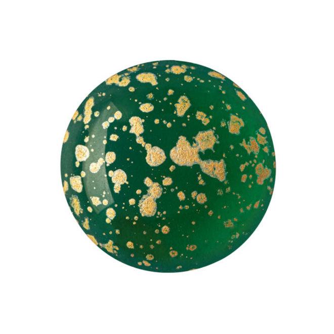 Cabochon par Puca - 18 mm - Emerald Splash Gold
