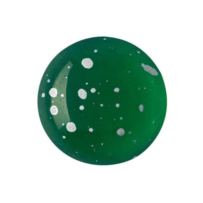 Cabochon par Puca® - 18 mm - Emerald Splash Silver