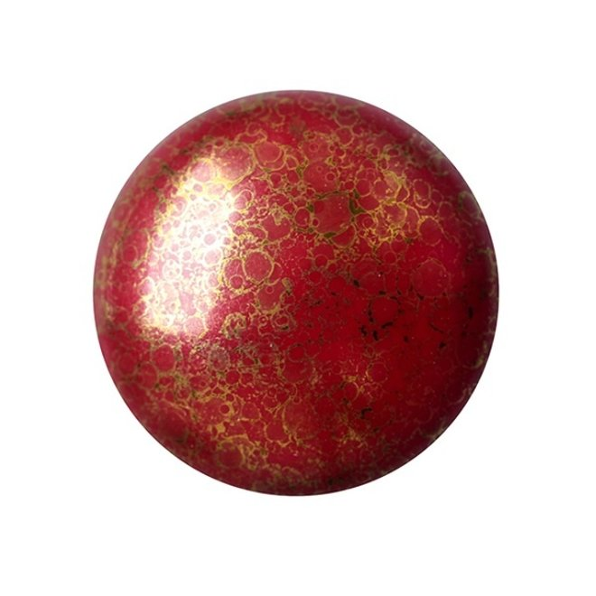 Cabochon par Puca - 18 mm - Opaque Coral Red Bronze