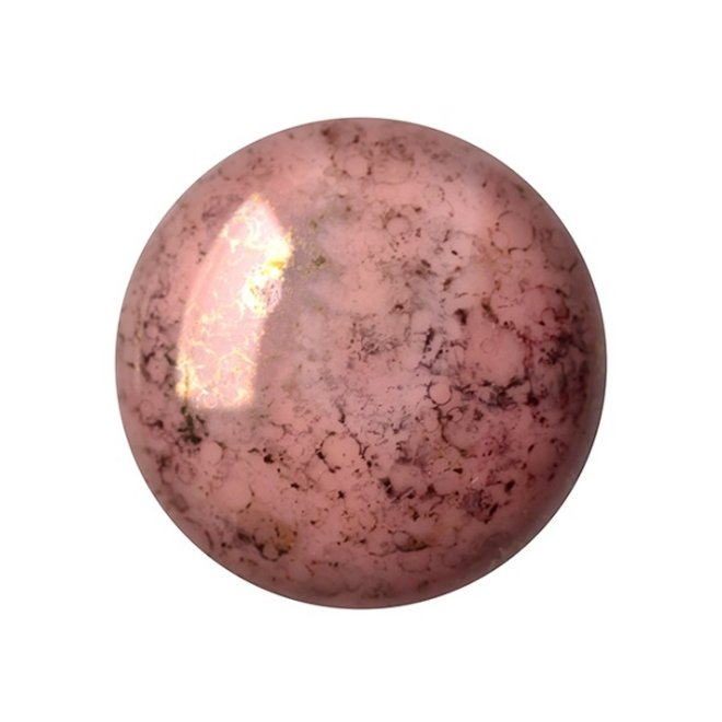 Cabochon par Puca® - 18 mm - Opaque Rose Bronze