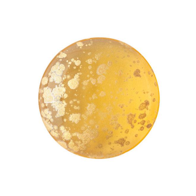 Cabochon par Puca - 18 mm - Light Topaz Splash Gold