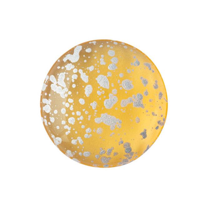 Cabochon par Puca® - 18 mm - Light Topaz Splash Silver