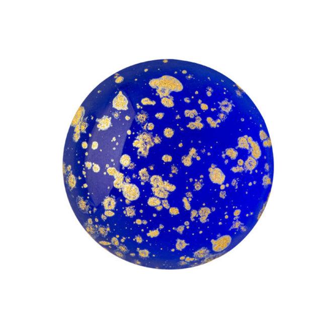 Cabochon par Puca® - 18 mm - Sapphire Splash Gold