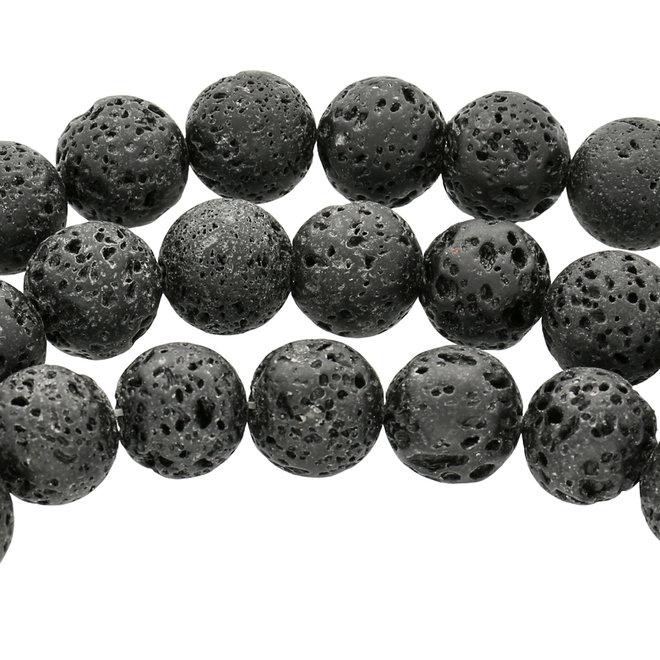 Perline rotonda in pietra lavica – 14 mm