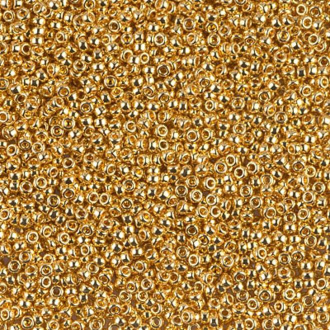 Rocailles-Perlen Miyuki 15/0 – 24 KT Gold Plate