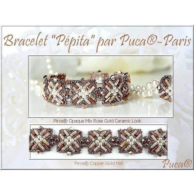 Piros® par Puca® -Opaque Light Rose Ceramic Look