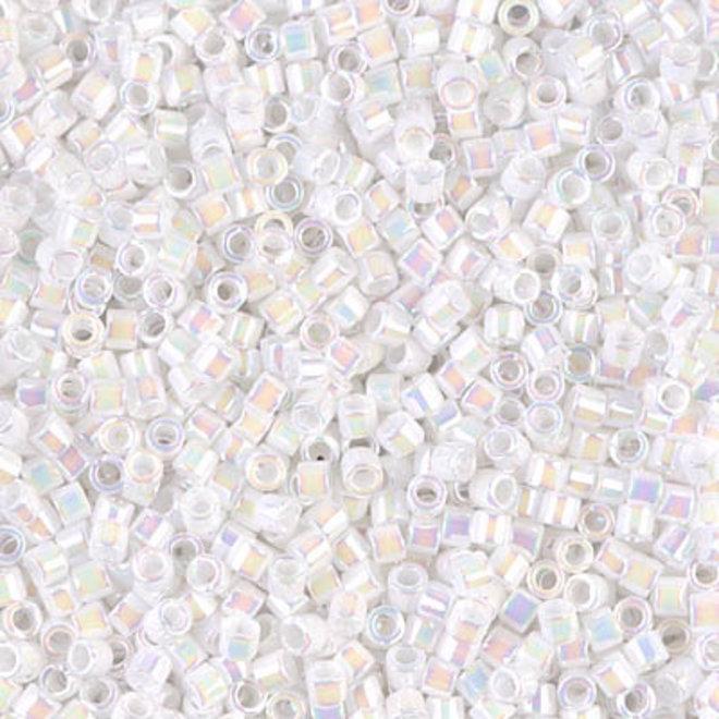 Miyuki Delica 10/0 - DBM0202 - White Pearl AB