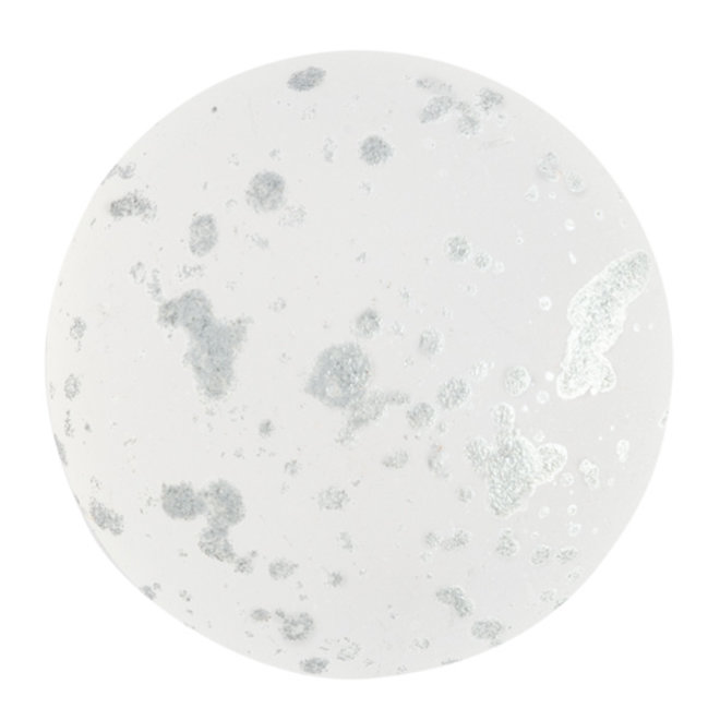 Cabochon par Puca® - 25 mm - Crystal Mat Splash Silver