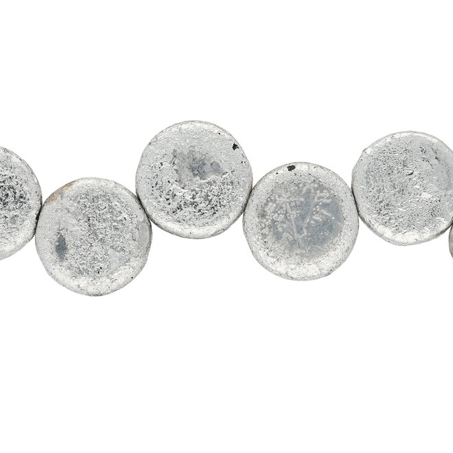 Coin 14 mm Glasperle  – Etch Jet Full Labrador