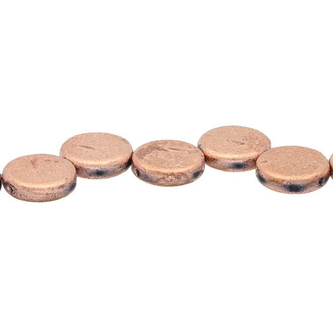 Coin 14 mm Glasperle  – Etch Jet Full Capri
