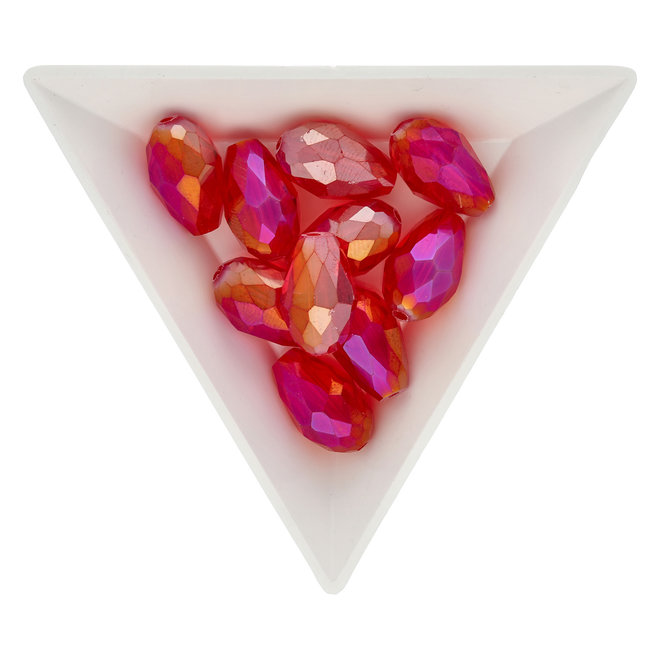 Gocce sfaccettate 15 x 10 mm – Crimson Red AB