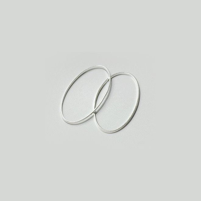 Connecteur ovale, 30 x 16 mm - argent