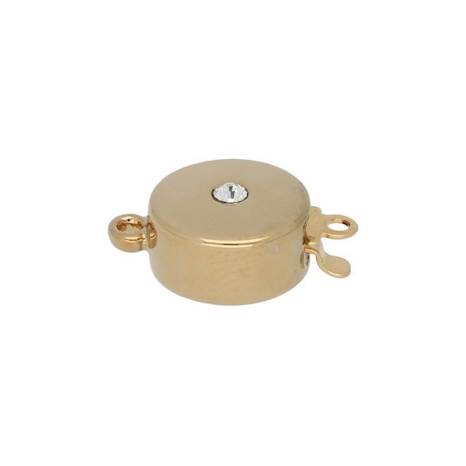 Federverschluss rund 11 mm – vergoldet