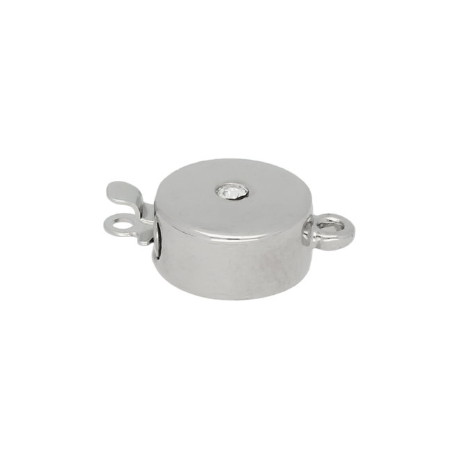 Federverschluss rund 11 mm – Auflage Rhodium