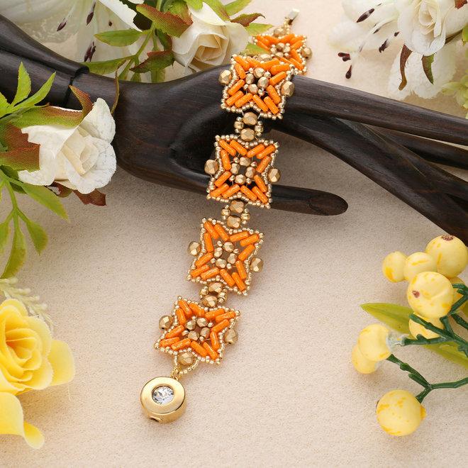 "Kit für Armband ""Pépita"" par Puca® - Hyacinth/Gold"