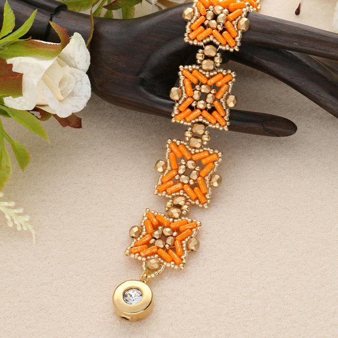 "Kit braccialetto ""Pépita"" par Puca® - Hyacinth/Gold"