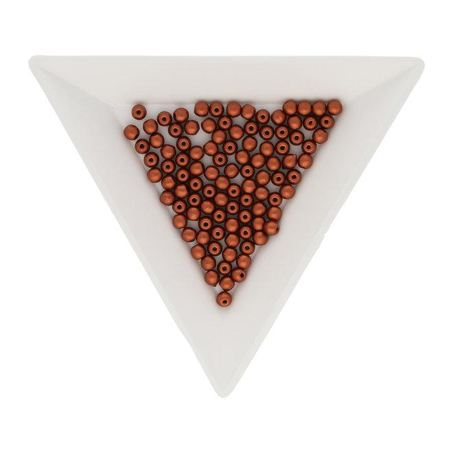Perle tonde in vetro 3 mm - Metallic Copper