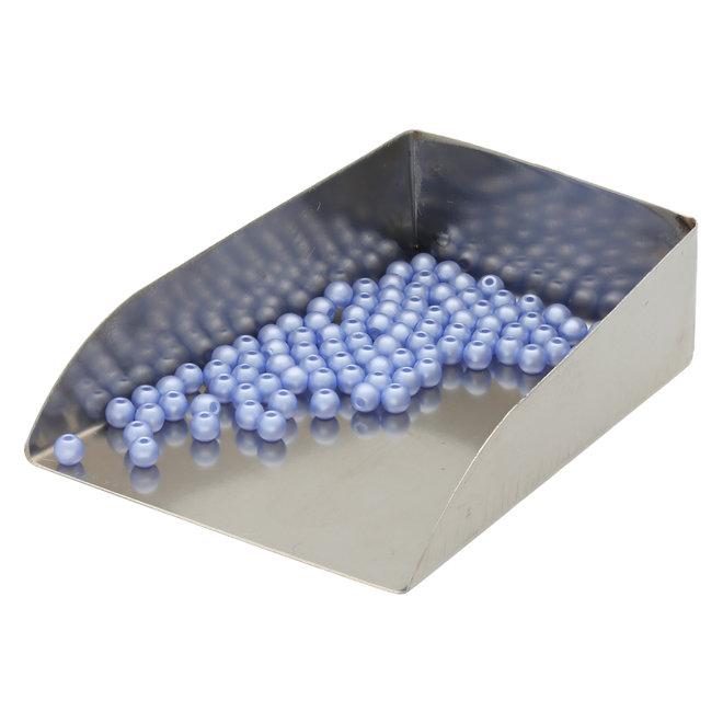 Runde Glasperlen 3 mm - Alabaster Pastel Light Sapphire