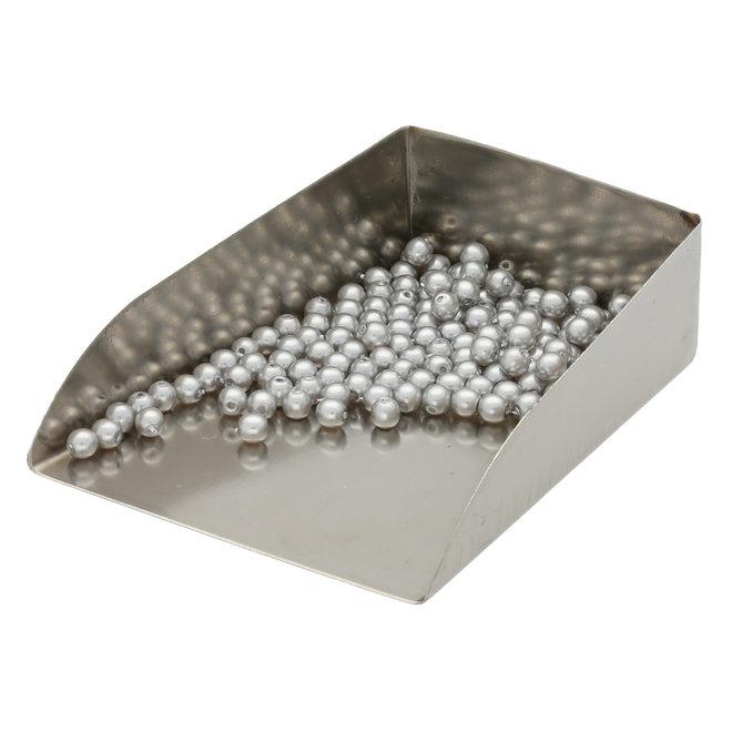 Runde Glasperlen 3 mm - Shiny Platinum