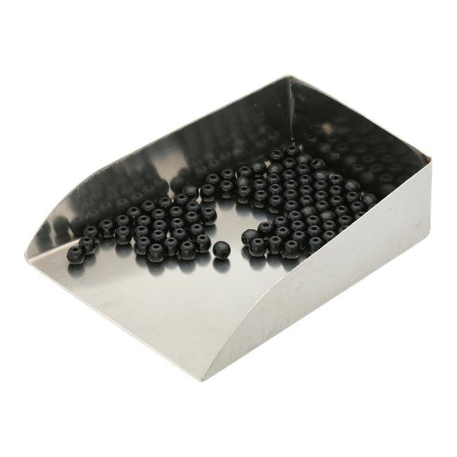 Perle tonde in vetro 3 mm - Jet
