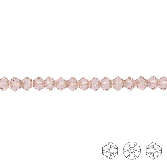 Swarovski Xilion Doppelkegel Perle 3 mm – Vintage Rose