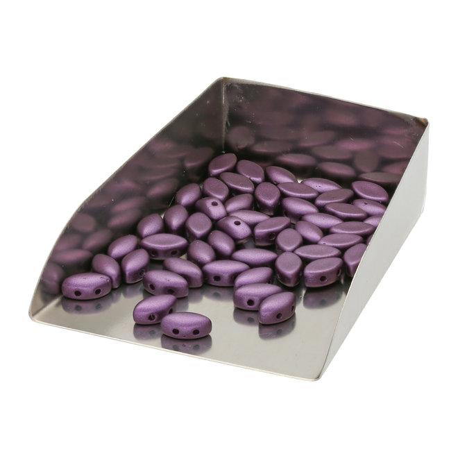 IrisDuo® 7x4 mm - Alabaster Pastel Bordeaux