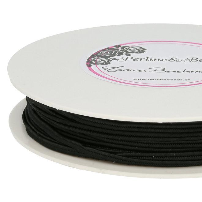 Cordon plat souple  pour Soutache - Black