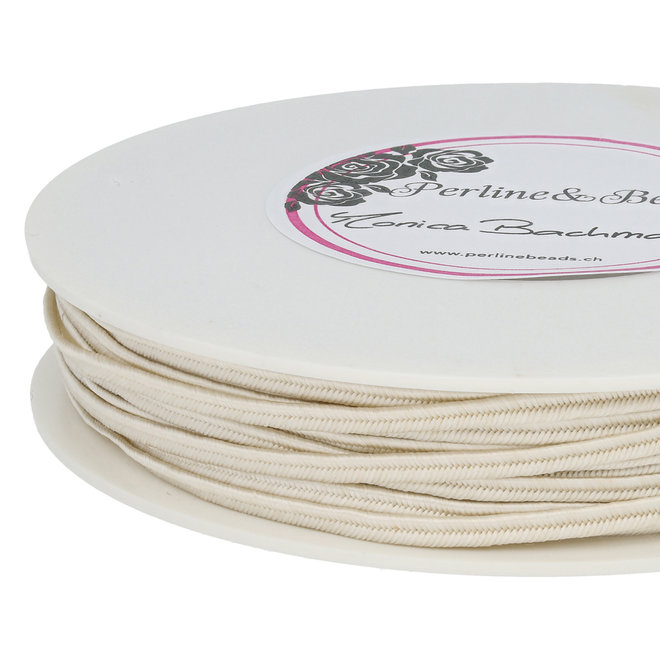 Cordon plat souple pour Soutache - Ivory