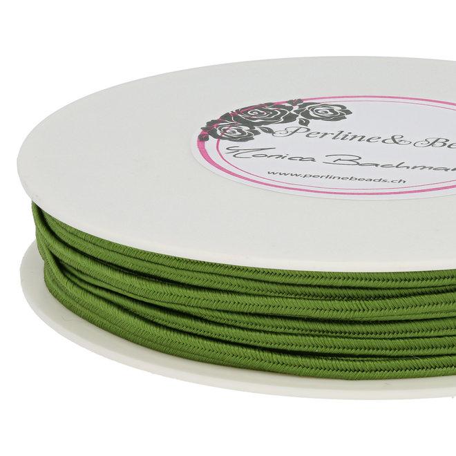 Cordon plat souple pour Soutache - vert olive