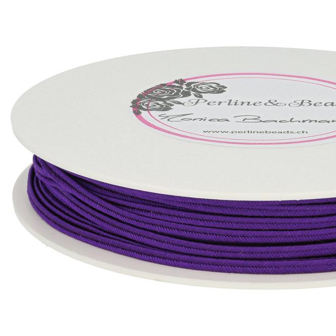Cordon plat souple pour Soutache - violet