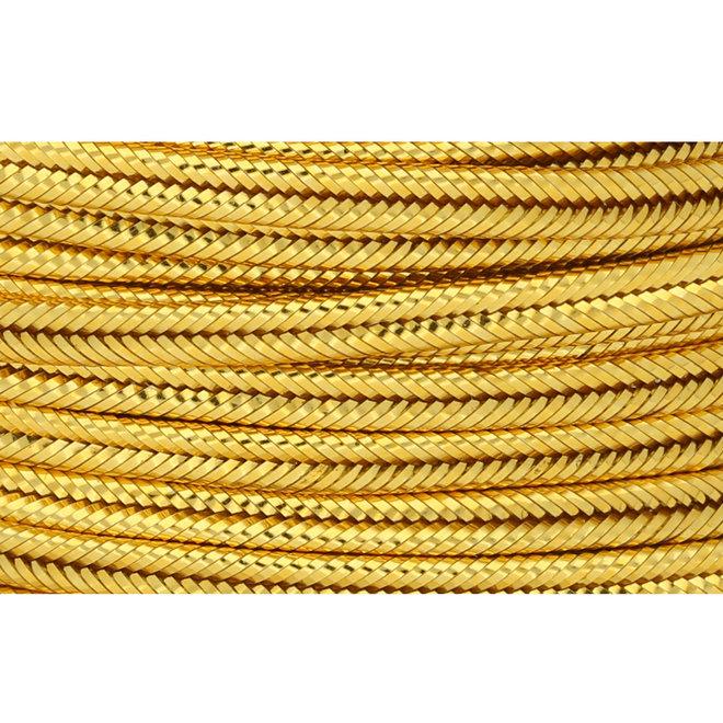 Chinesisches Soutache-Band, ca. 3 mm – Metallic Gold