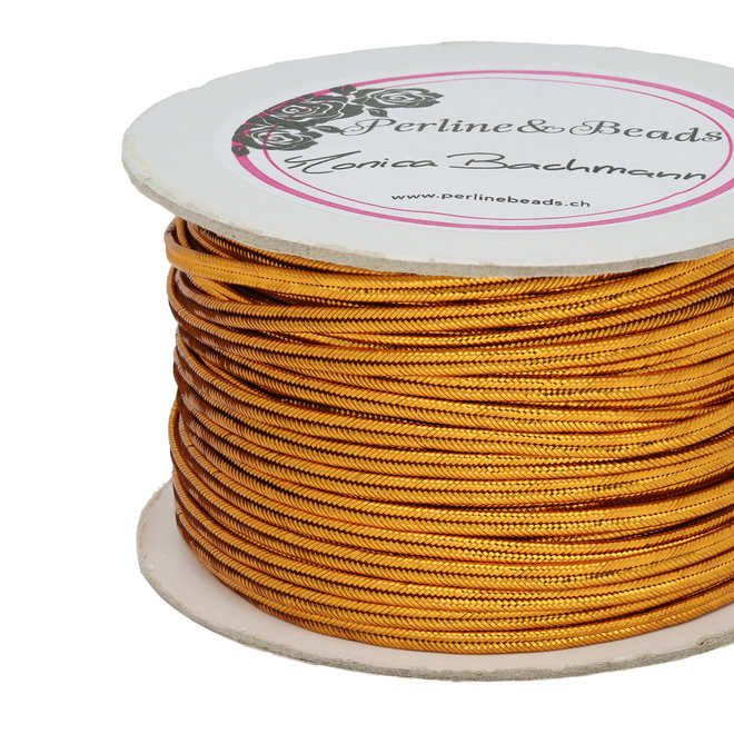 Chinesisches Soutache-Band, ca. 3 mm – Metallic Gold Copper