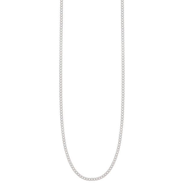 Catenina in argento tipo grumetta - 38 cm