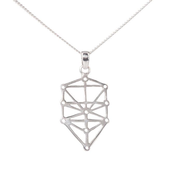 Anhänger Baum des Lebens mit Halskette, Silber