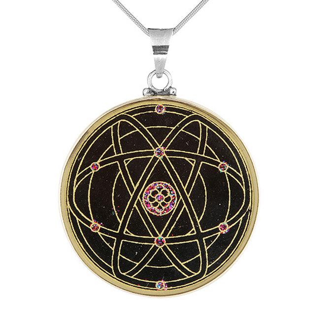 Anhänger Mandala CREATION – Silber-Turmalin