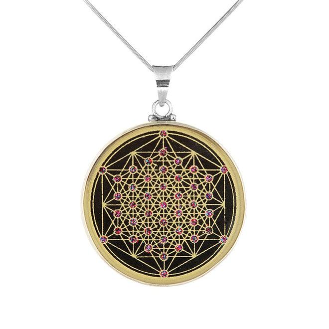 Anhänger Mandala STARLIGHT– Silber-Turmalin