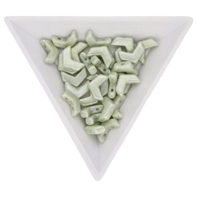 Chevron Duo 10x4 mm – Green Luster