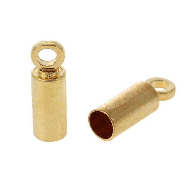 Endkappe für Kordel – Kupfer vergoldet – 9 x 3 mm