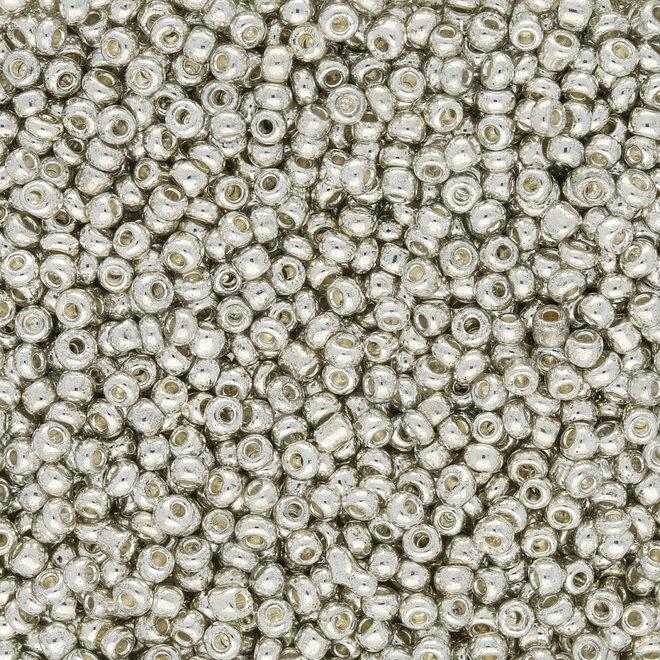 Perline Rocailles dimensione irregolare - Silver