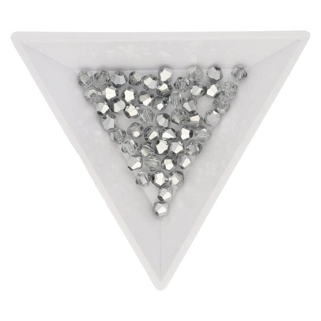 Doppelkegel 4 mm – aus Glas - Crystal-Platinum
