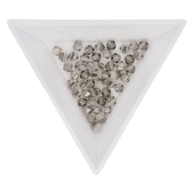 Doppelkegel 4 mm – aus Glas – Light Grey